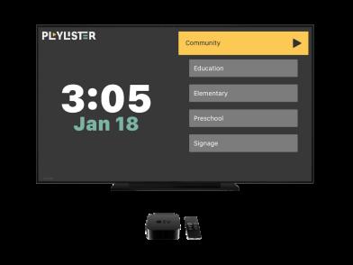 Playlister using Apple TV