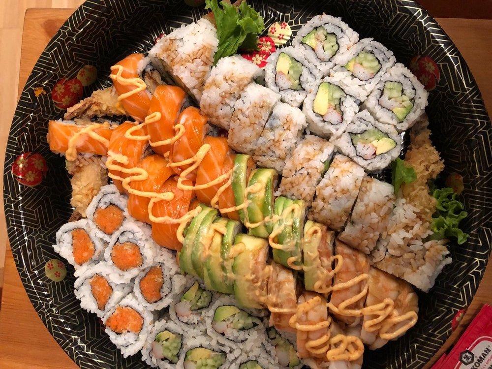 lots of sushi at Ginza