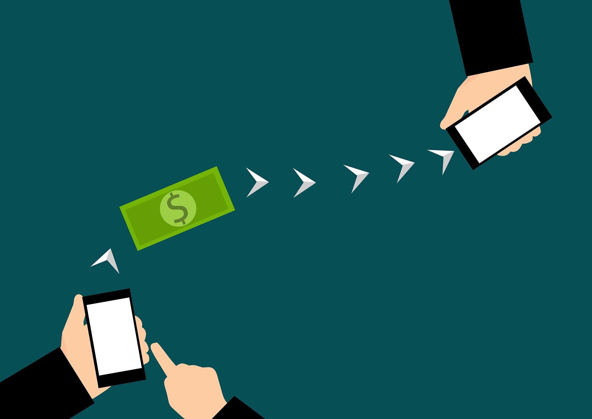 sending money between phones