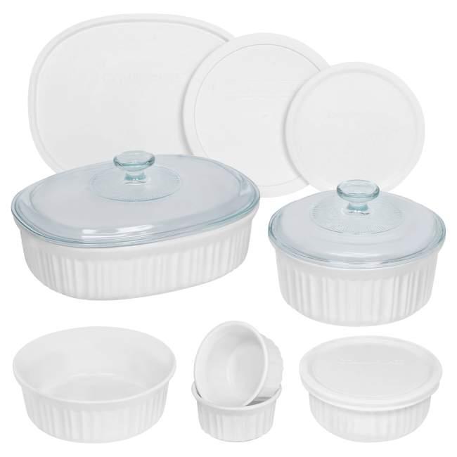 Corning Ware white bakeware set
