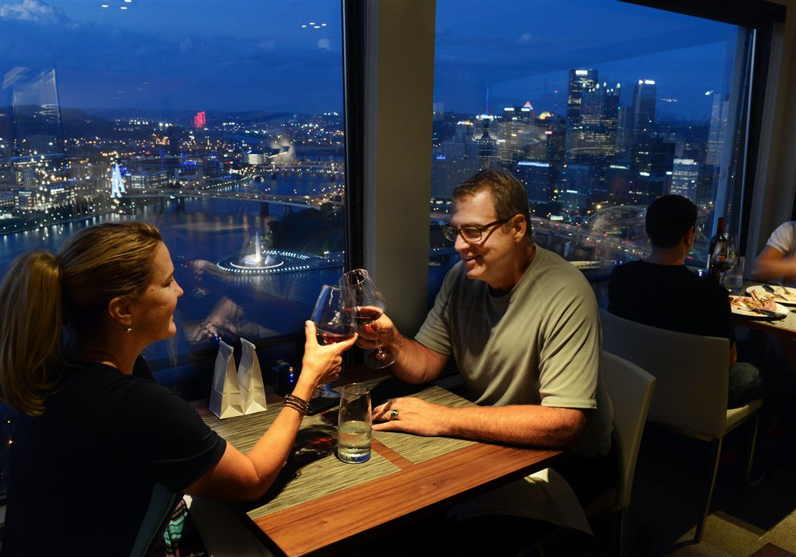 Dinner over the city of Pittsburgh