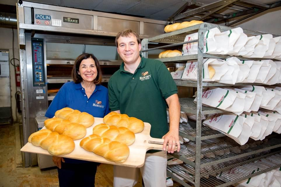 Mancini's Bakery's signature loaves