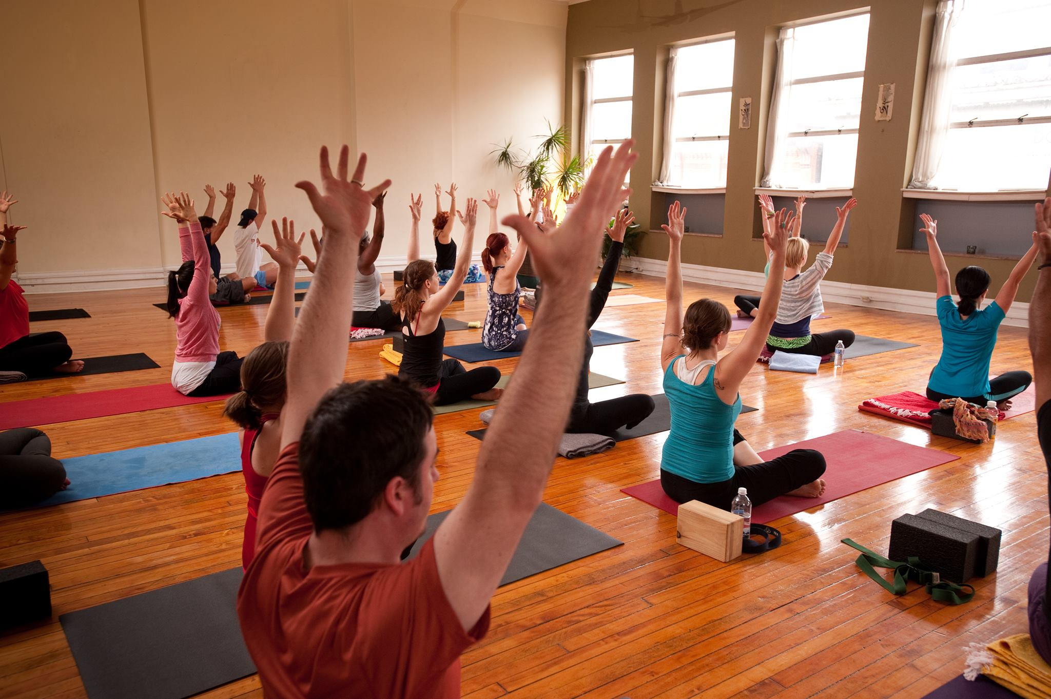 BYS Yoga class all holding pose