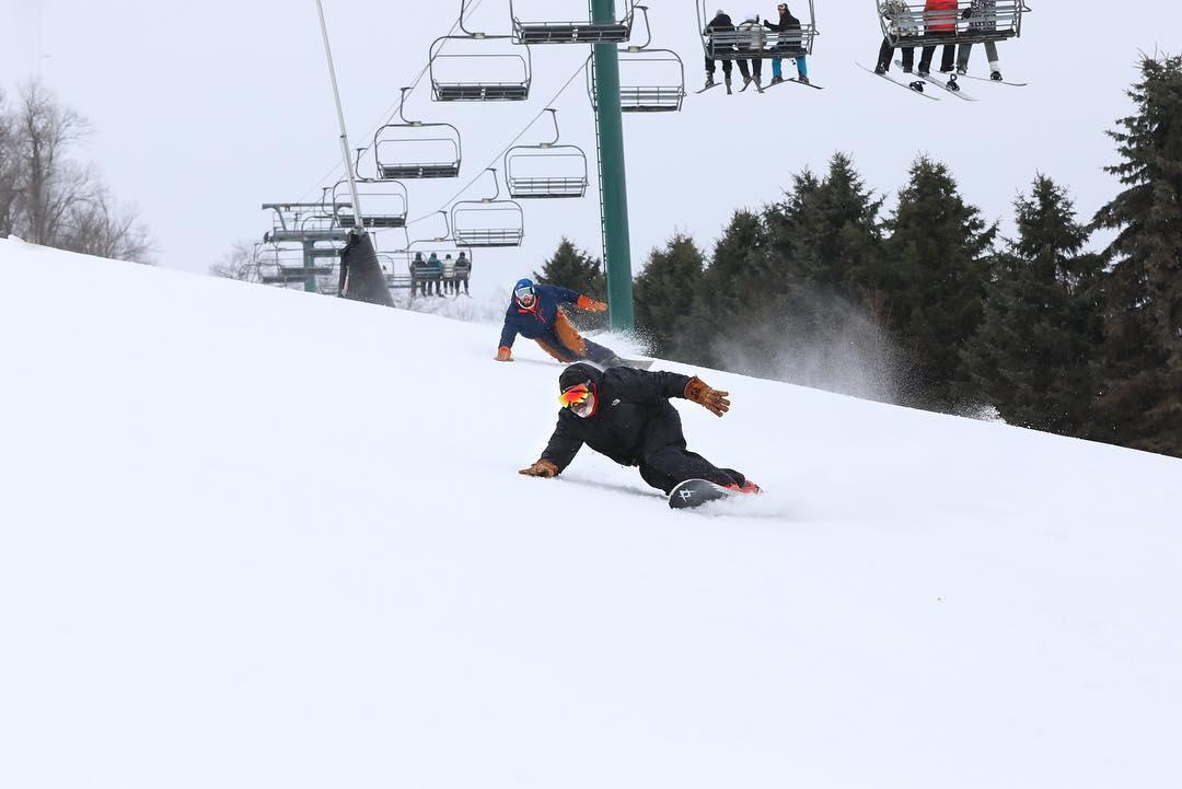 Snowboarding at Seven Springs