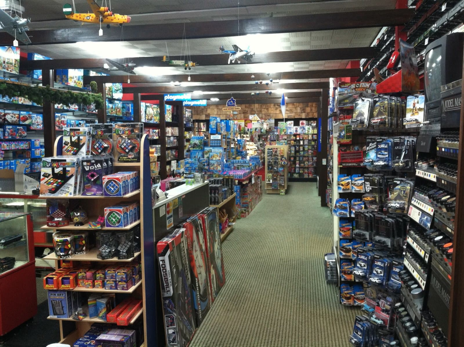 aisles of toys at S. W. Randall Toys