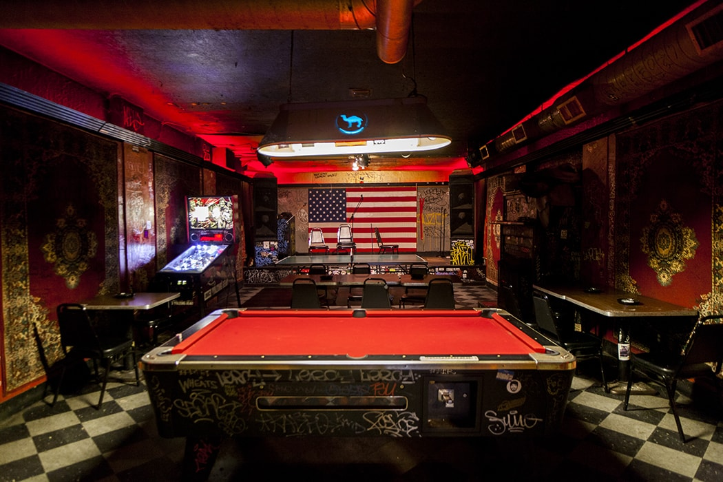 pool tables and other arcade games at Gooski's