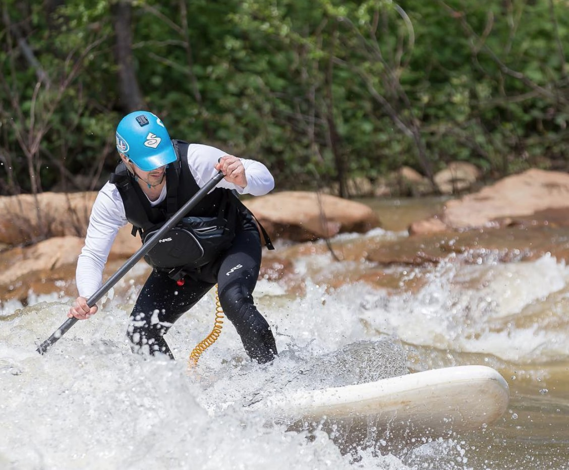 whitewater paddle boarding at SUP