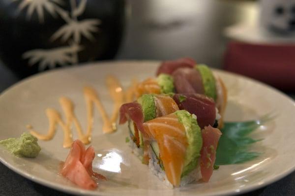 colorful sushi at Kiku