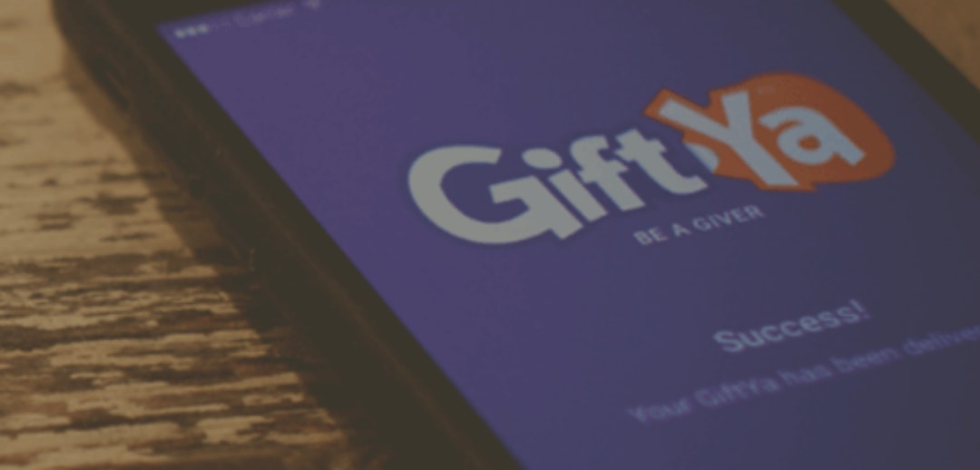 the GiftYa app on a smartphone