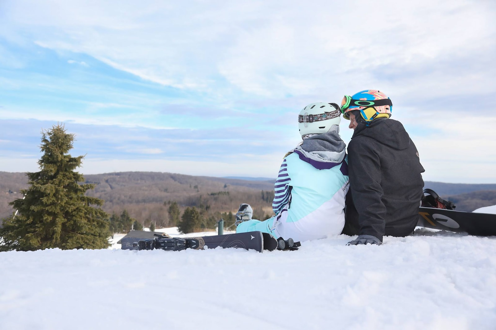 a couple enjoying the day at Seven Springs