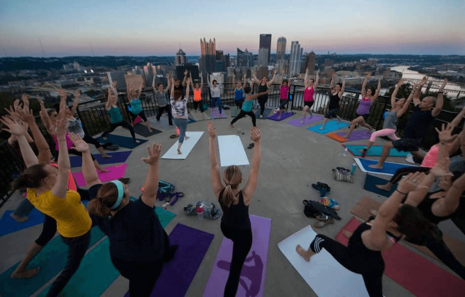 Yoga on the overlook