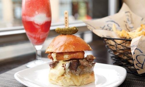 burger and milkshake at brgr pittsburgh