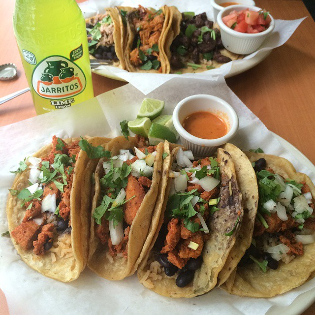 tacos and soda from bea taco town pittsburgh
