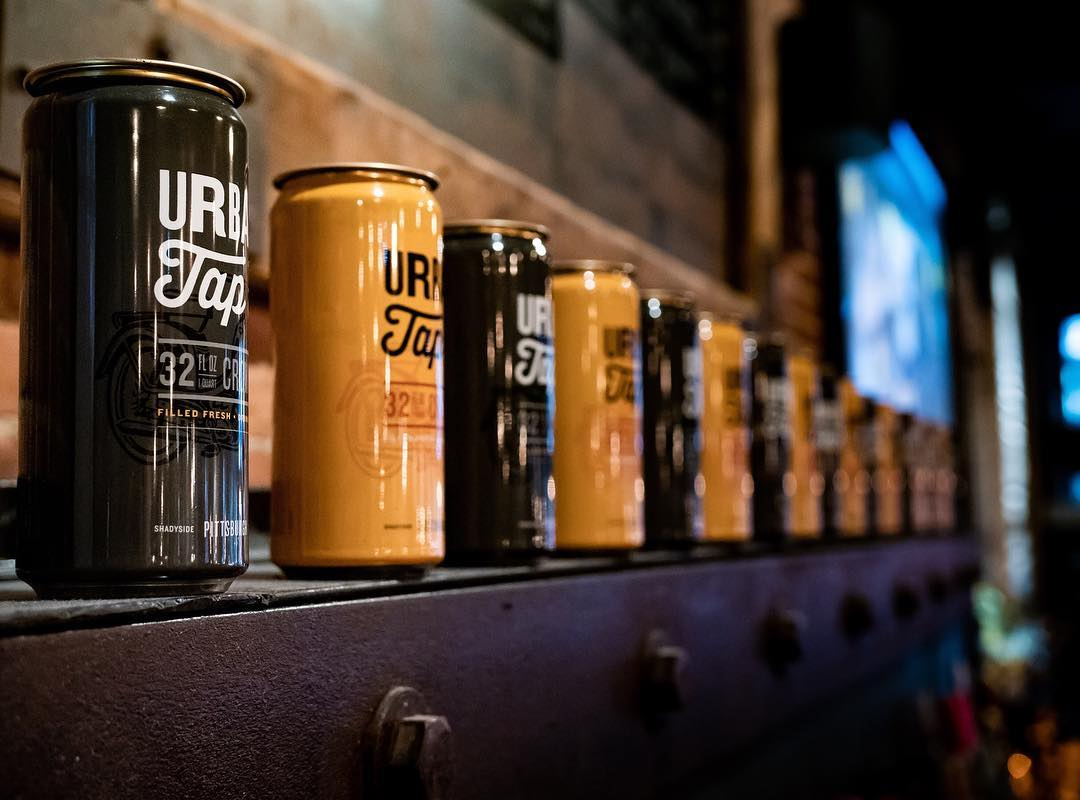 beer cans at the Urban Tap