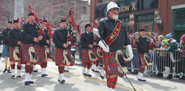 Marchers in the St. Patrick's Day parade