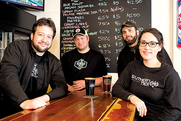 The owners and management of The Korner Pub in Pittsburgh