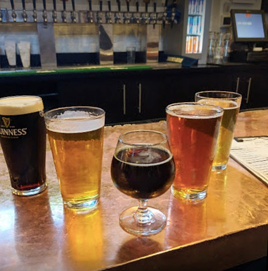An array of different kinds of beer