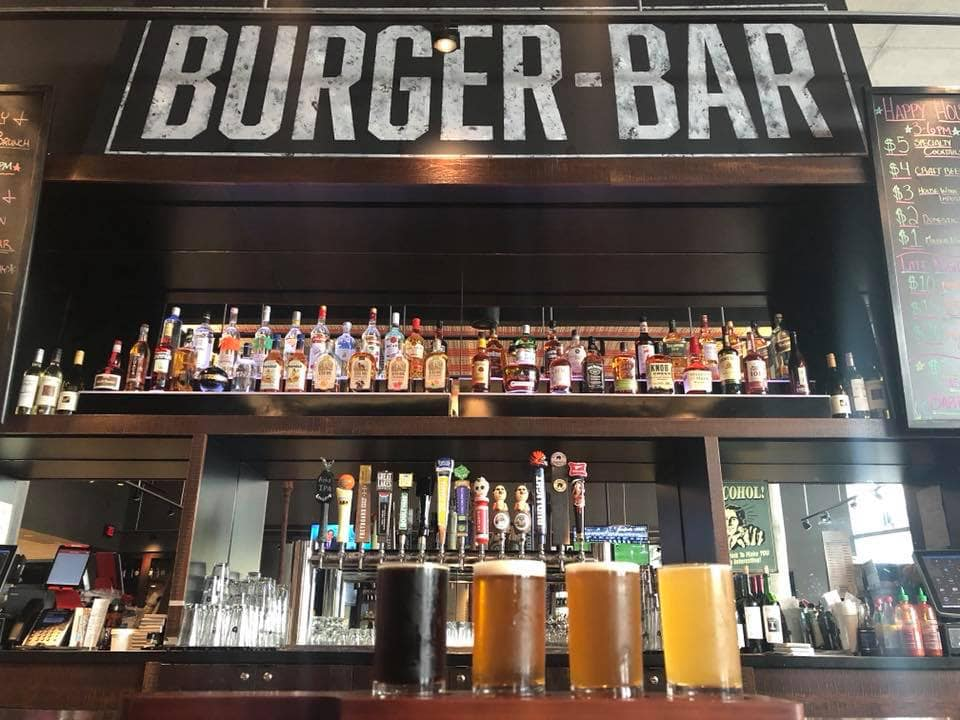 a full bar at the burger bar!