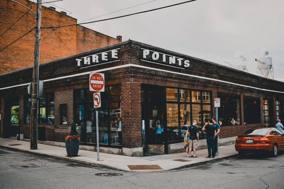 Exterior of Three Points on a corner
