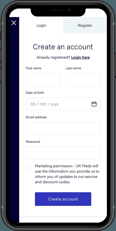 UK Meds Register Mobile