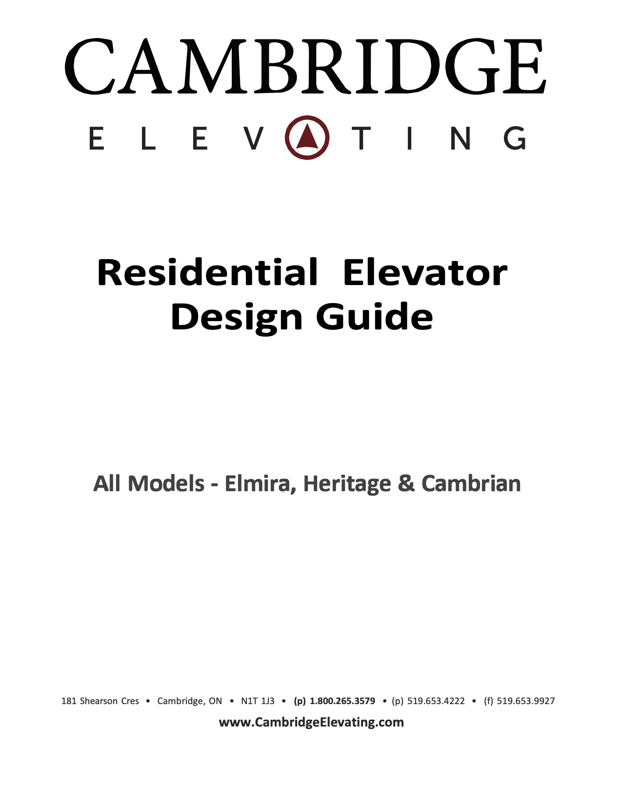 Options & Design Guide PDFs