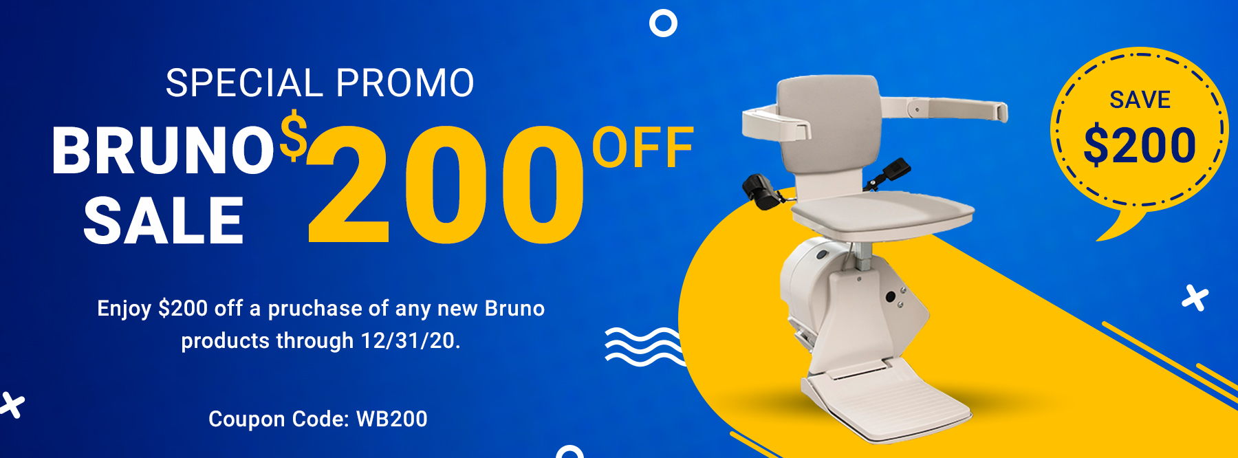 Bruno $200 Coupon Access Solutions