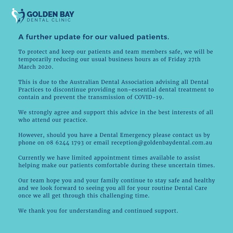 COVID Safe Golden Bay Dental