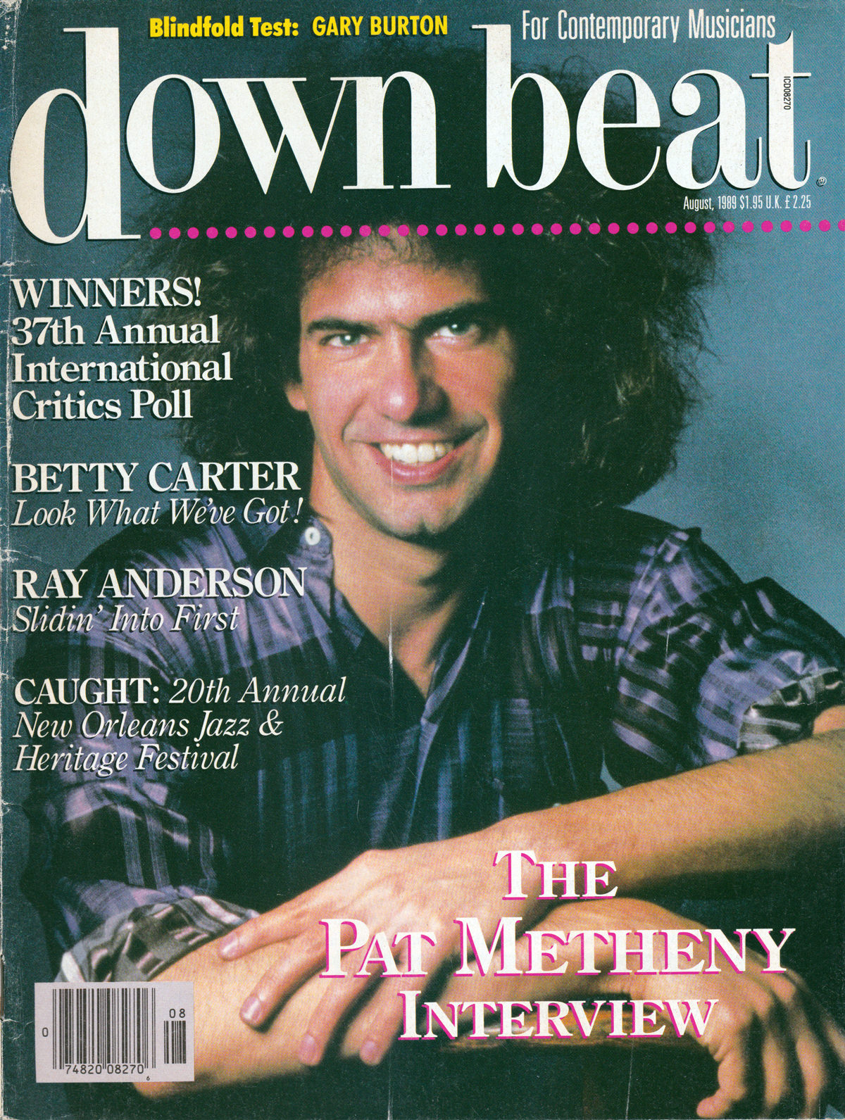 Downbeat Magazine August 1989