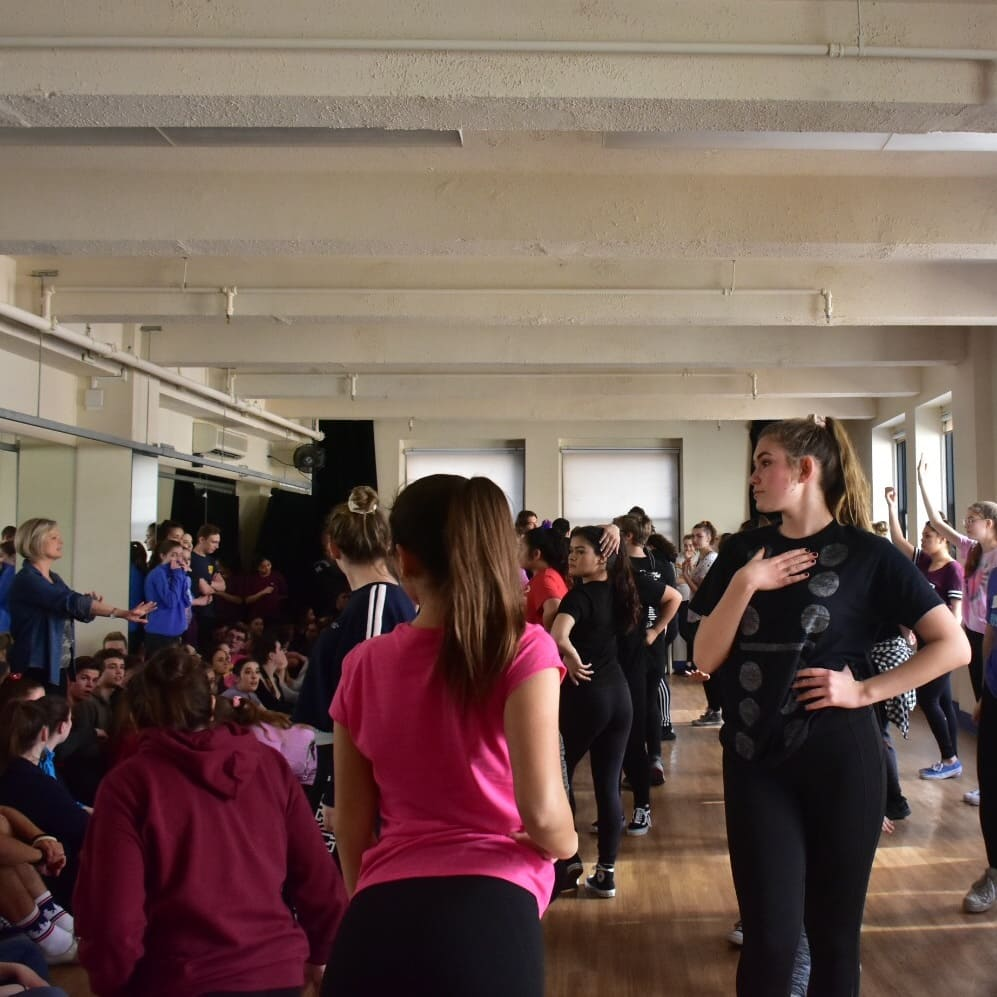 dance students in a workshop during their educational new york trip
