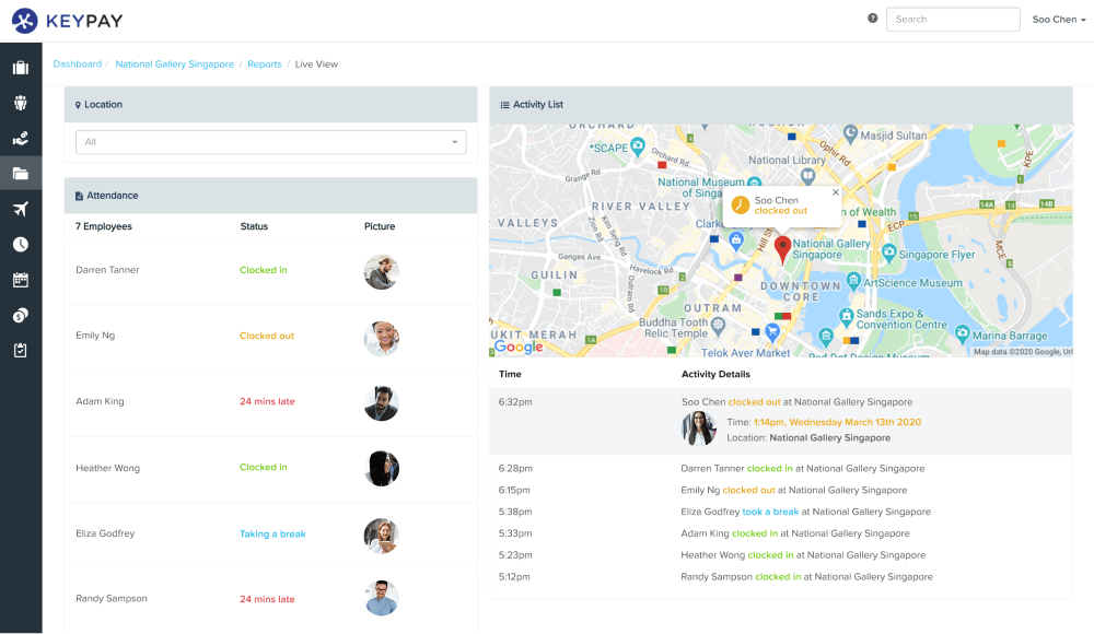 Live View report for Singapore companies by KeyPay