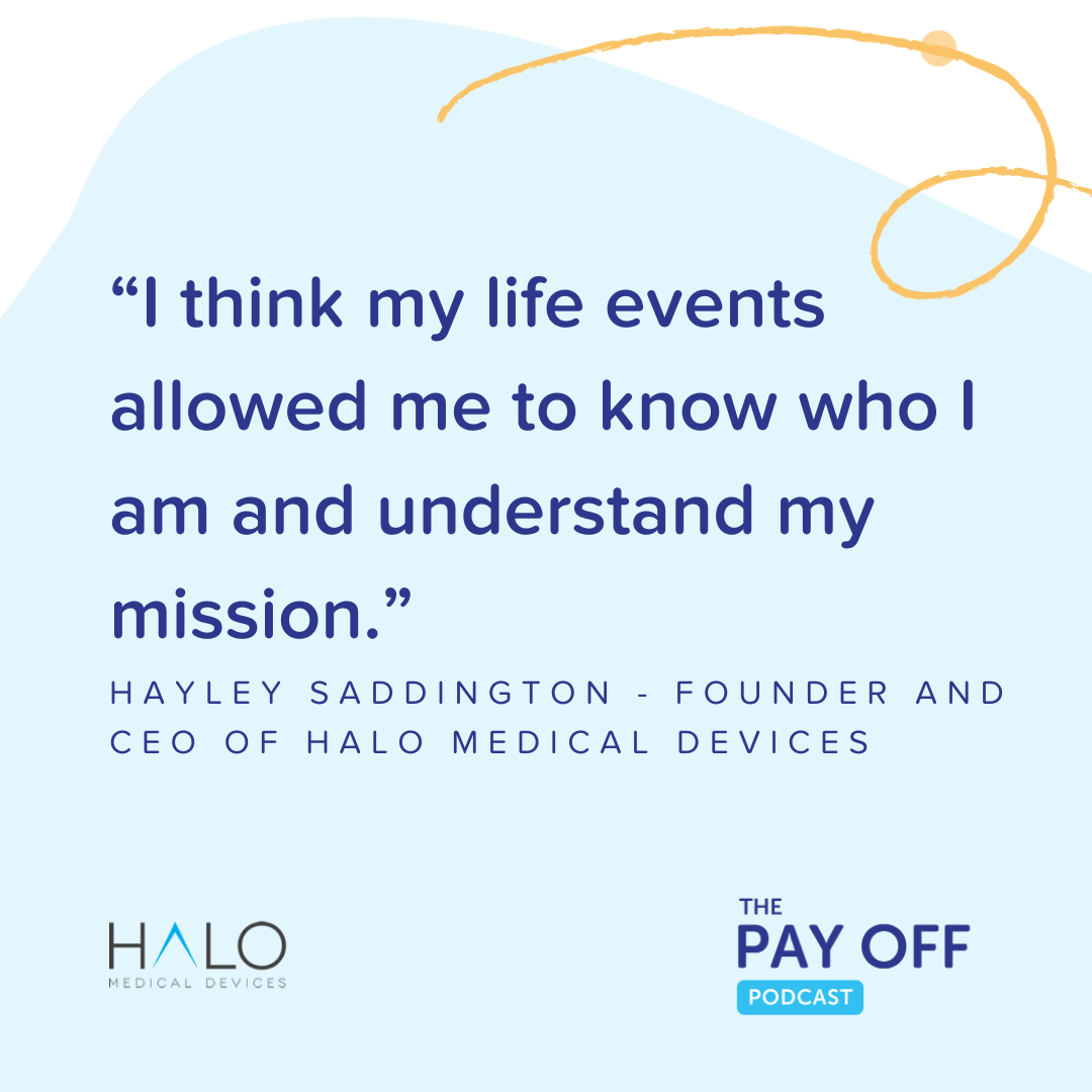 Hayley Saddington Quote 1