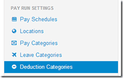 Deduction Category