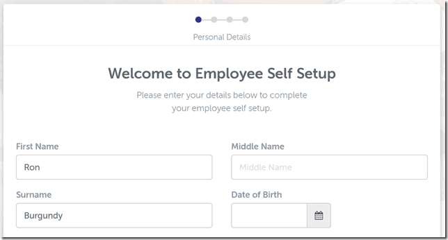 Welcome to employee self setup