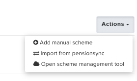 PensionSync add manual scheme