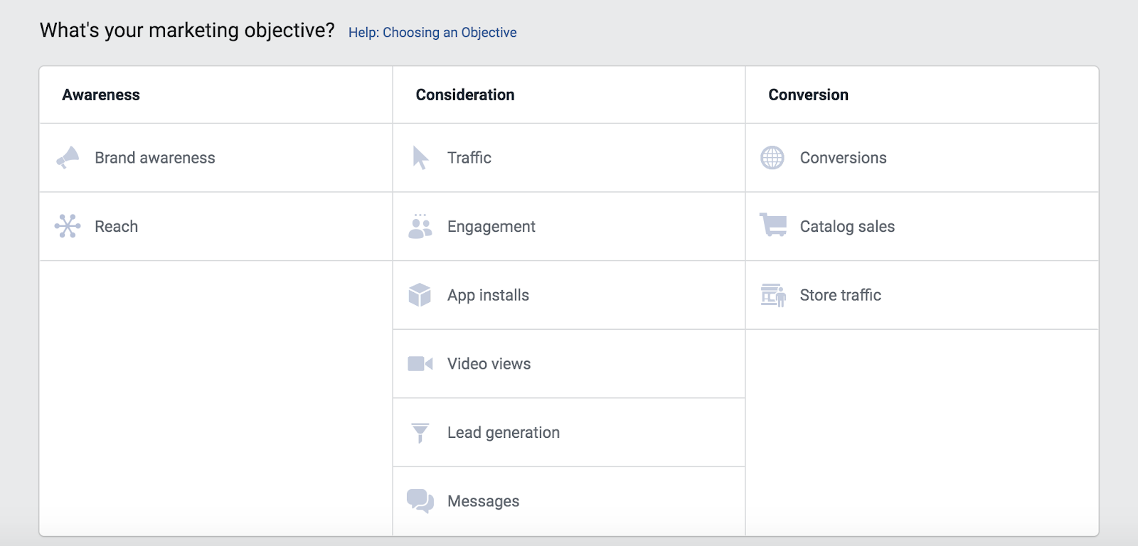 facebook setting objective
