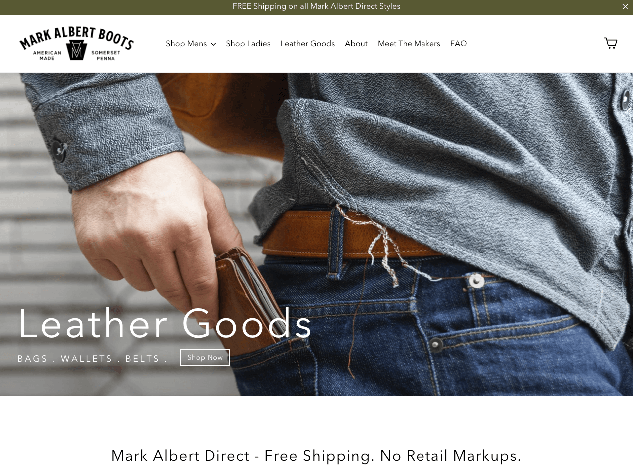 mark albert boots' homepage