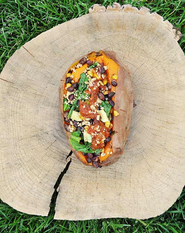 Healthy Meals for One You Can Make Any Night of the Week - Stuffed Sweet Potato