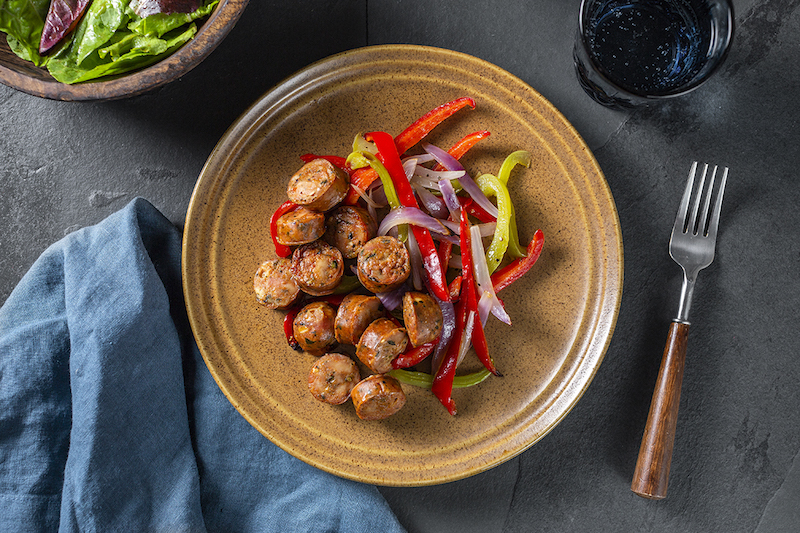 Healthy Meals for One You Can Make Any Night of the Week - Chicken Italian Sausage