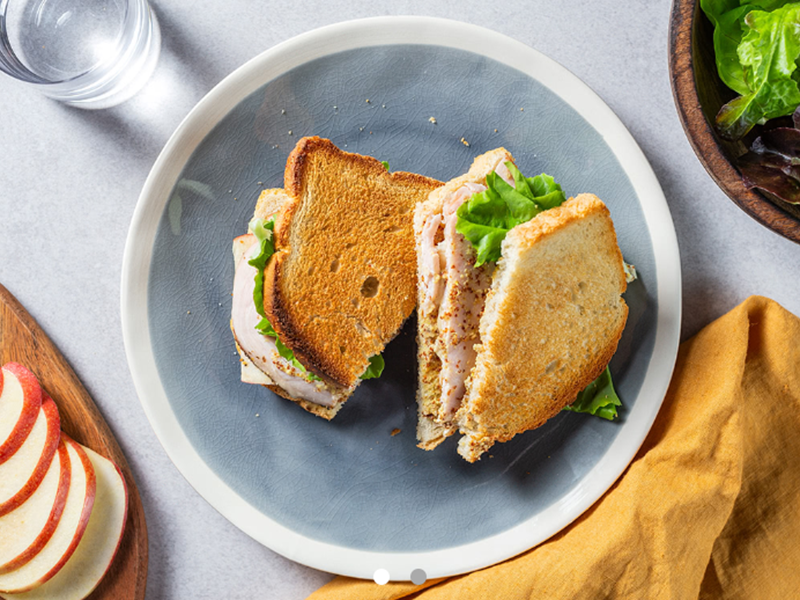 Easy Weeknight Dinner: Brie and Rosted Turkey Sandwich