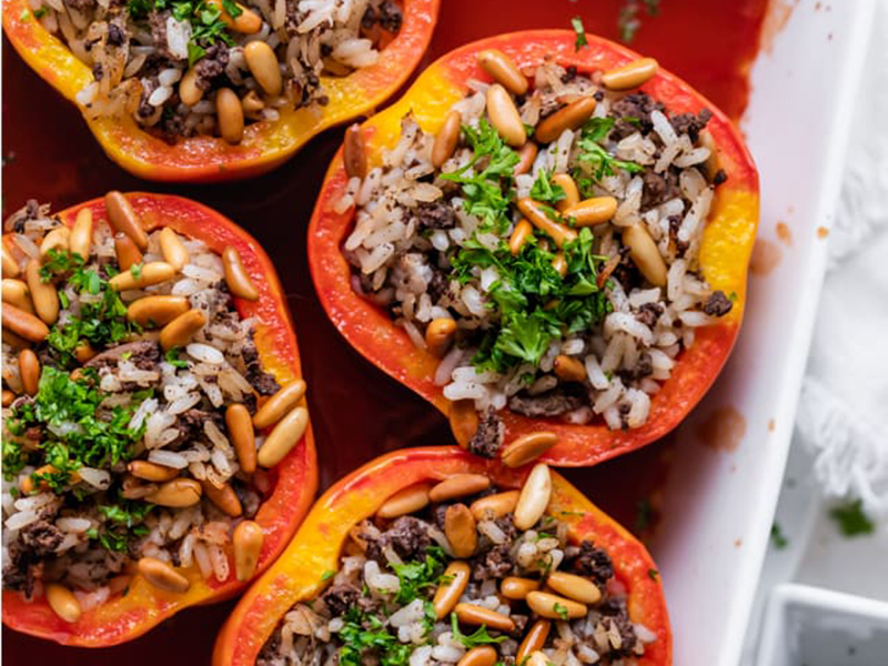 Easy Weeknight Dinner: Beef Stuffed Peppers