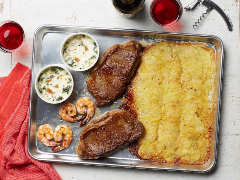 Dinner Ideas for Two: Steakhouse Sheet Pan Dinner