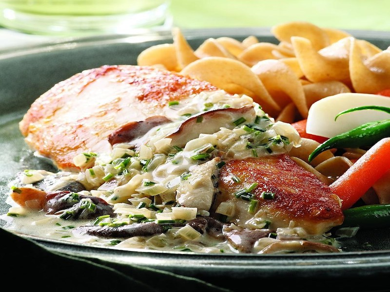 Dinner Ideas for Two: Chicken Breasts With Mushroom Cream Sauce