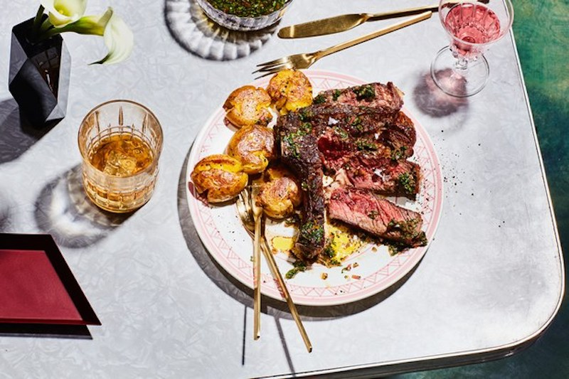 Dinner Ideas for Two: Rib-Eye Steak and Potatoes