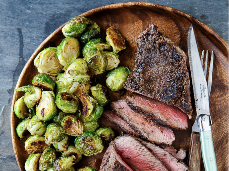 Dinner Ideas for Two: Cowboy Steaks 'n Sprouts