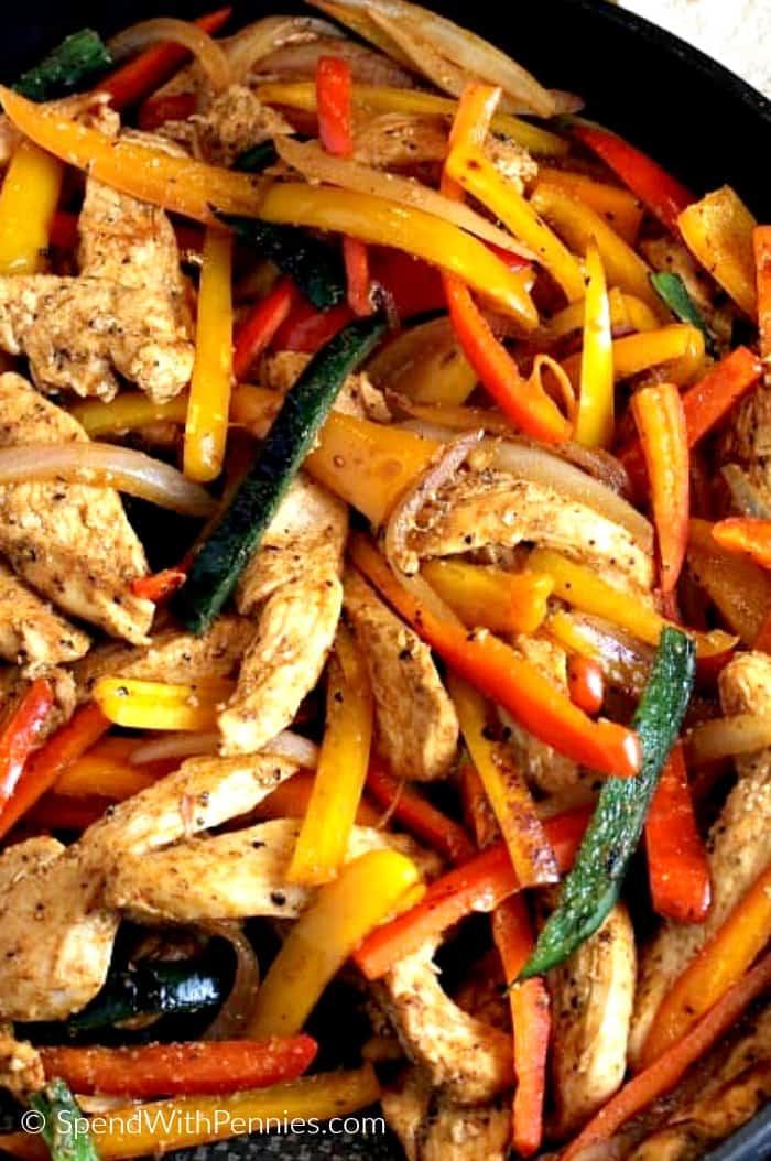 Easy Dinner Ideas for Two: Chicken Fajitas