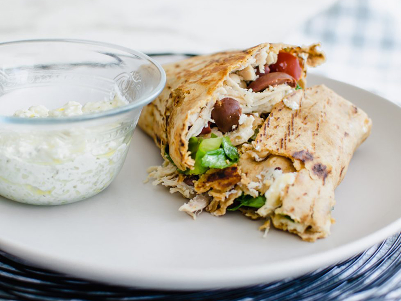 Easy Meals for One Person: Greek-style chicken crunchwrap