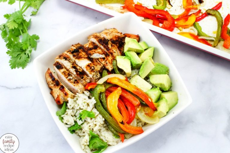 Simple healthy recipes: Grilled chicken fajita bowl