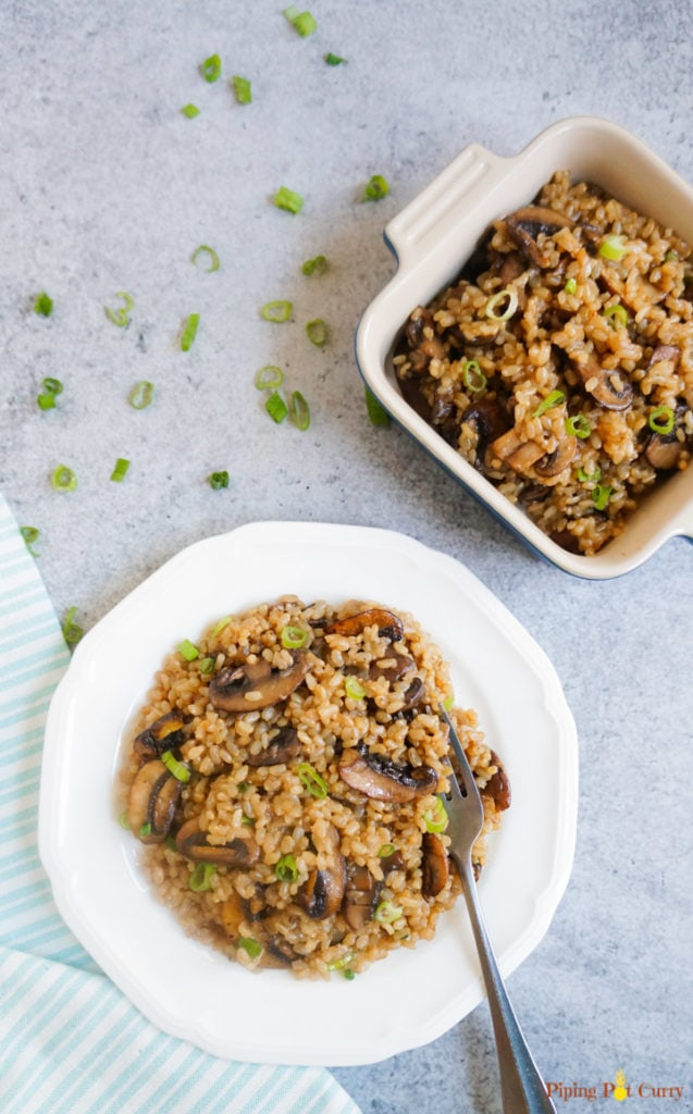 Simple healthy recipes: Brown rice and mushroom pilaf