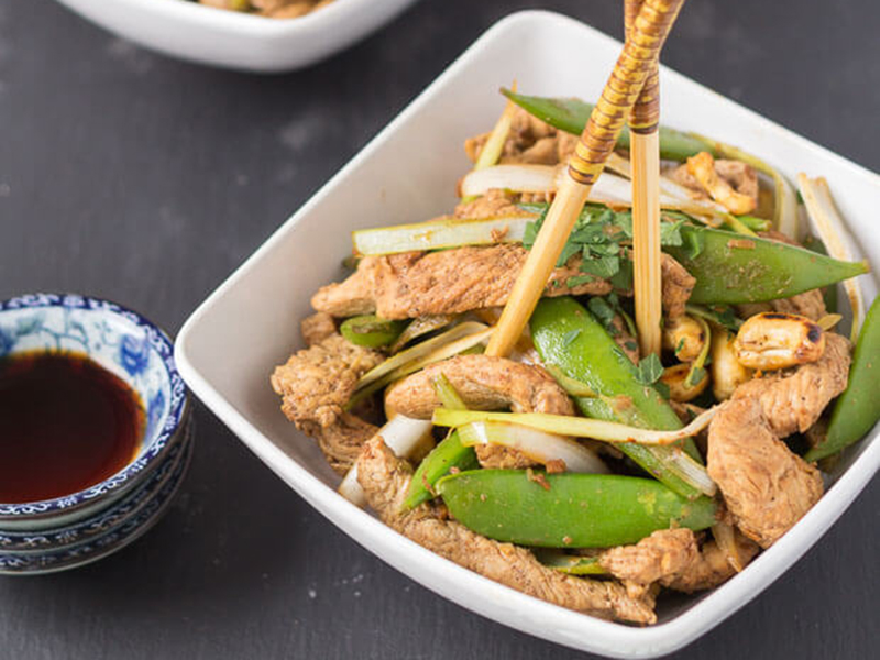 Healthy dinners for two: Stir Fry Turkey with Sugar Snap Peas