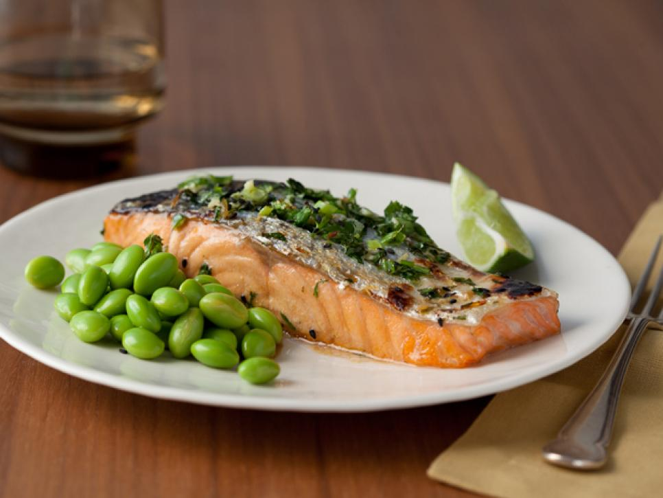 Healthy weeknight meals: Honey Soy Grilled Salmon With Edamame